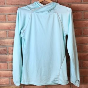 Patagonia size S mint green, long sleeved hoodie